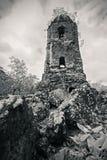 De Ruïnes van Cagsawa Royalty-vrije Stock Afbeeldingen