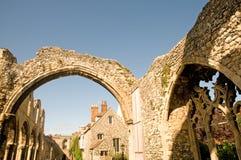 De ruïnes van Canterbury Stock Fotografie