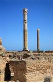 de ruïnes van Carthago stock afbeeldingen