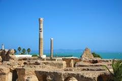 de ruïnes van Carthago royalty-vrije stock afbeeldingen