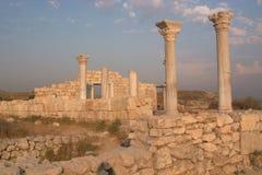 De ruïnes van Chersonesos Stock Afbeeldingen