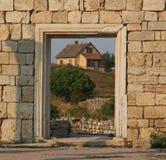 De ruïnes van Chersonesos Stock Foto's