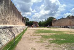 De ruïnes van Chichenitza in Mexico Stock Afbeeldingen
