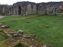 De ruïnes van de Croxdenabdij, Staffordshire platteland royalty-vrije stock afbeelding