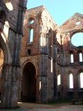 De Ruïnes van de abdij Stock Afbeeldingen