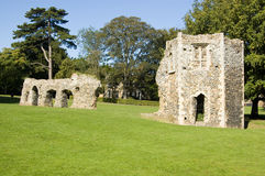 De Ruïnes van de abdij, begraven St Edmunds, Suffolk Royalty-vrije Stock Foto