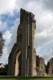De Ruïnes van de Abdij van Glastonbury royalty-vrije stock foto's