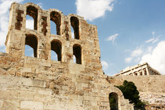 De Ruïnes van de akropolis Royalty-vrije Stock Afbeelding