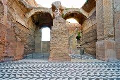 De ruïnes van de Baden van Caracalla in Rome, Italië stock afbeeldingen