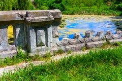 De ruïnes van de barrière stock fotografie
