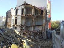 De ruïnes van de bouw Stock Afbeeldingen