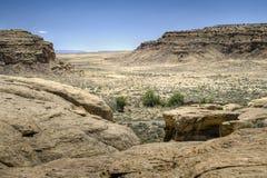 De Ruïnes van de Canion van Chaco Stock Afbeeldingen