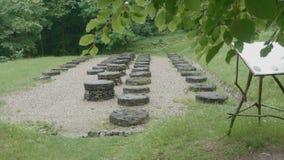 De Ruïnes van de Dacianbeschaving stock videobeelden