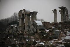 De ruïnes van de Europese paleizen in Oude Summe Royalty-vrije Stock Afbeeldingen