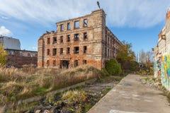 De ruïnes van de fabriek Stock Foto