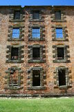 De ruïnes van de gevangenis in Tasmanige Stock Afbeeldingen