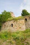 De Ruïnes van de Ivangorodvesting Stock Afbeeldingen