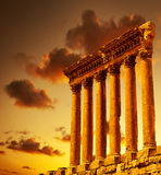 De ruïnes van de kolom stock foto's