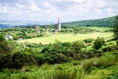 De ruïnes van de mijn, Bodmin leggen in het UK vast Stock Foto's