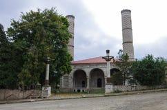 De ruïnes van de moskee in Shoushi-stad, Nagorny Karabach repub Royalty-vrije Stock Foto's