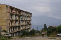 De ruïnes van de moskee in Shoushi-stad, Nagorny Karabach repub Royalty-vrije Stock Fotografie