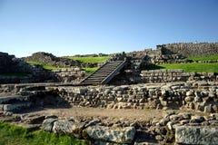 De Ruïnes van de Muur van Hadrianâs Royalty-vrije Stock Foto's