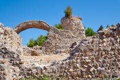 De ruïnes van de oude gebouwen Stock Afbeelding