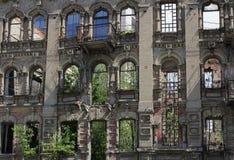 De ruïnes van de oude huizen Royalty-vrije Stock Afbeeldingen