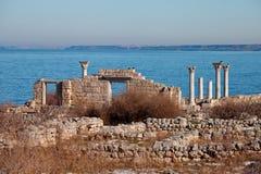 De ruïnes van de oude stad Stock Afbeeldingen