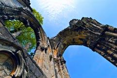 De ruïnes van de overwelfde galerij Royalty-vrije Stock Afbeelding