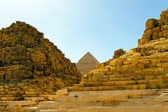 De ruïnes van de piramide Royalty-vrije Stock Foto's