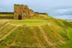 De Ruïnes van de Priorij van Tynemouth Royalty-vrije Stock Foto's