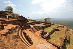 De Ruïnes van de Sigiriyatop Royalty-vrije Stock Afbeeldingen