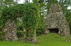 De ruïnes van de steen Stock Foto's