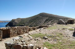 De Ruïnes van de steenmuur, Bolivië Royalty-vrije Stock Foto