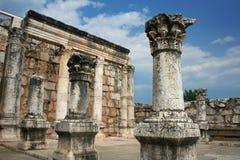 De Ruïnes van de synagoge Stock Fotografie