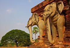 De ruïnes van de tempel. Royalty-vrije Stock Foto's