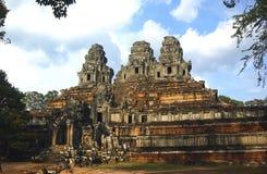 De ruïnes van de tempel, Angkor wat, Kambodja Stock Afbeeldingen