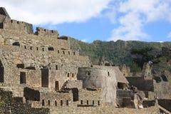 De ruïnes van de Verloren Stad Inca in Machu Picchu Stock Foto's