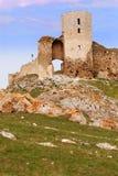 De Ruïnes van de vesting stock foto