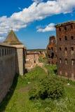 De ruïnes van de vesting Shlisselburg Stock Afbeelding