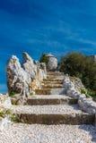 De ruïnes van de vestingwerken Stock Foto