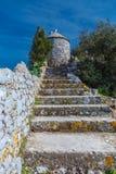 De ruïnes van de vestingwerken Royalty-vrije Stock Foto's