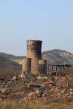 De ruïnes van de zware industrie stock foto