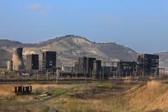 De ruïnes van de zware industrie royalty-vrije stock afbeeldingen