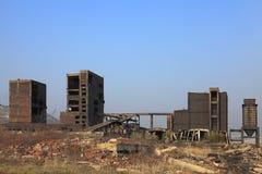 De ruïnes van de zware industrie stock afbeelding