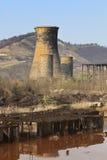De ruïnes van de zware industrie royalty-vrije stock foto