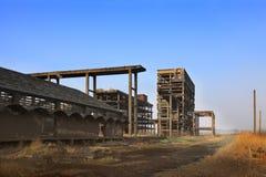 De ruïnes van de zware industrie stock foto's