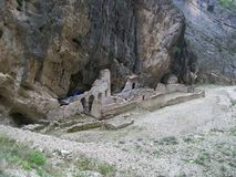 De ruïnes van een altaar Stock Afbeelding