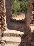 De ruïnes van een visser ` s huisvesten Mallorca Stock Foto's
